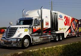 100 Jayski Trucks International Lonestar Hauler Transporter NASCAR3M Roush Racing