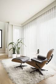 Modern Reading Nook With Eames Lounge Chair And Flokati Rug ...