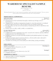 Warehouse Resume Templates Supervisor