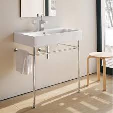 duravit 045410 vero washbasin with metal console legs