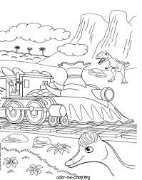 Free Train Coloring Pages Dinosaur Printable