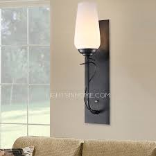 iron modern wall sconces for bedroom