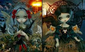 Unseelie Court Pestilence And War Set Of TWO BIG Art Prints By Jasmine Becket Griffith SIGNED Goddess Queen Dark Fairy Post Nuclear