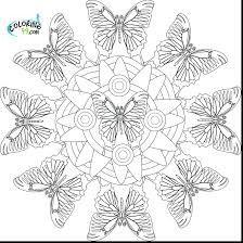 Free Mandala Coloring Pages Pdf Colouring For Adults Incredible Printable Butterfly Full Size