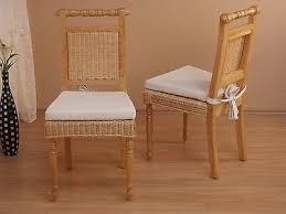 2x rattanstühle inkl sitzkissen esszimmerstuhl küchen stuhl stühle farbwahl ebay