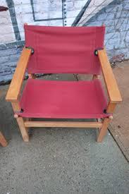 Pair Of Danish Modern Canvas Safari Style Lounge Chairs Ny ...