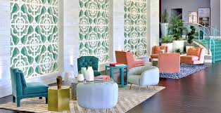 iconic palm springs hotel with stunning mid century lighting designs
