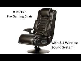 Ak Rocker Gaming Chair by X Rocker Pro Gaming Chair 2 1 Wireless Sound System Youtube