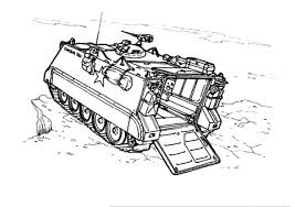 Army Car Tank M113 Coloring Pages PagesFull