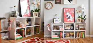 backyards yourself wood crate bookcase boom brothers blog diy
