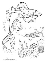 Ariel Loves Have Fun With Sebastian And Flounder What About Coloring This Amazing Scene From