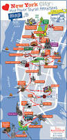 Halloween In Nyc Guide Highlighting by New York City Most Popular Attractions Map