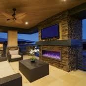 Outdoor Fireplace Units Outdoor Electric Fireplaces