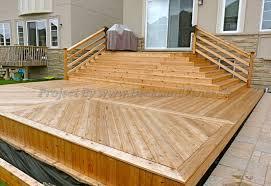 Deck Designing by Multi Level Cedar Deck Toronto Decks Design U0026 Deck Building