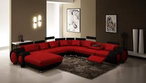 Red Living Room Ideas by Red And Black Sitting Room Orange Cushions Sectional Dark Sofas