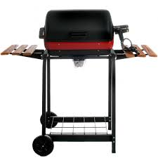 Patio Bistro Gas Grill Home Depot by Meco Electric Grill On Cart With Fold Down Side Tables 9325