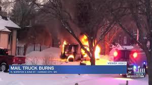 100 Postal Truck Fire Mail Truck Catches Fire In KC News Kctv5com