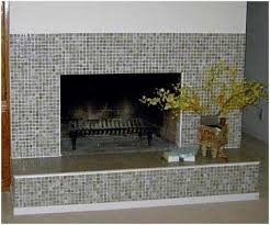 glass mosaic tile fireplace surround purchase how to tile a