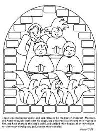 Shadrach Meshach And Abednego Coloring Page Sma2 Bible Pages