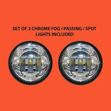 4 5 auxiliary daymaker chrome spot passing hid led fog lights