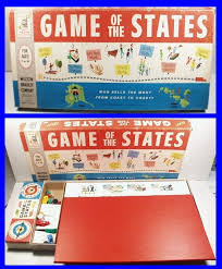 Vintage 1960 Milton Bradley GAME OF STATES Educational Board Game Continental Hobby House