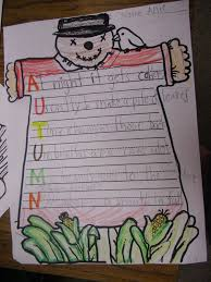 Halloween Acrostic Poem Words by Patties Classroom Fall Acrostic Poetry And Scarecrows
