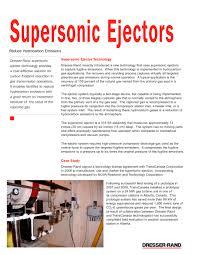 supersonic ejectors dresser rand pdf catalogue technical
