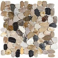 interceramic river rocks mosaics forest sliced