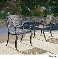 Cast Aluminum Outdoor Sets by Amazon Com Covington Bronze Cast Aluminum Outdoor Chairs Set Of