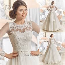 aliexpress com buy vintage long sleeve lace wedding dresses