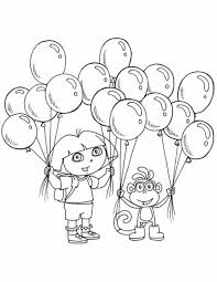 Dora The Explorer Coloring Pages Printable 16