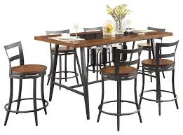 Amazon.com - Sena Industrial Metal 7PC Dining Set Glass Insert ... Hanover Traditions 5piece Alinum Outdoor Ding Set With Swivel Chairs With Casters A R T Valencia Castered Chair In Indoor Chromcraft Kitchen Revington Table Amazoncom Morocco Square And Four On Wheels Tvdesignorg Astounding Value City Fniture Room Cool Haddie 8 Cancupinfo Mesmerizing Cheap Dinette Sets Immaculate Lowes Sling Covers Six Patio Cushion Tilt Coaster Mitchelloak 5 Piece 3in1 Game Alkar Billiards