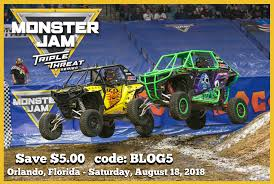 100 Monster Truck Orlando Jam Triple Threat Series Save 5 With Code BLOG5