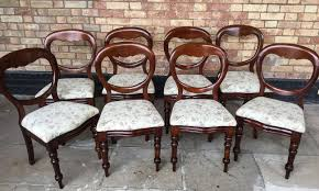 Set Of 8 Victorian Mahogany Balloon Back Dining Chairs - A ... Antique Victorian Ref No 03505 Regent Antiques Set Of Ten Mahogany Balloon Back Ding Chairs 6 Walnut Eight 62 Style Ebay Finely Carved Quality Four C1845 Reproduction Balloon Back Ding Chairs Fiddleback Style Table And In Traditional Living Living Room Upholstery 8 Upholstered Lloonback Antique French