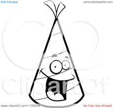 Black And White Party Hat Clipart Cartoon Clipart A Black And White 0Nm34c Clipart