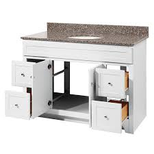 Foremost Bathroom Vanity Cabinets by Foremost Wrwa4821d Worthington 48 White Bathroom Vanity