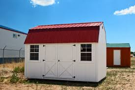 Loafing Shed Kits Oregon by White Side Lofted Barn With Rustic Red Metal Roof Painted