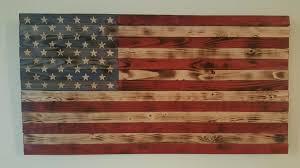 195 X 37 Rustic American Flag