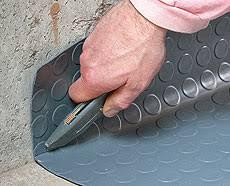 Garage Mat Rubber Roll Out Coin Pattern