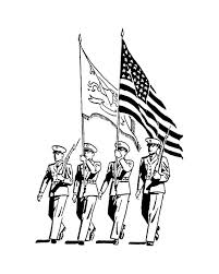 Celebrating Veterans Day With Officers March Parade Coloring Page