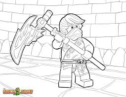 LEGO Ninjago Coloring Page Cole Tournament Of Elements Printable Color Sheet