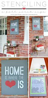 Cutting Edge Stencils Shares How To Stencil A DIY Porch Sign Using The Home Is Where
