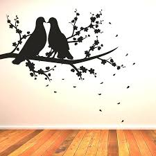 Simple Wall Paintings Birds Remarkable Art Designs Bird Two On A Branch Painting