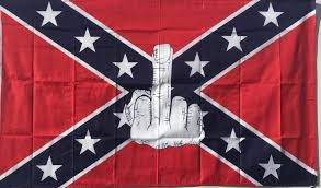 Confederate Flag Bedding by Rebel Flag With Middle Finger