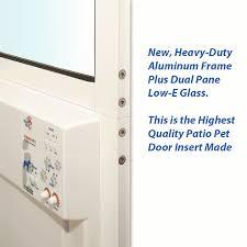 Doggie Door Insert For Patio Door by Turns Any Sliding Glass Door Into A Fully Automatic Pet Door