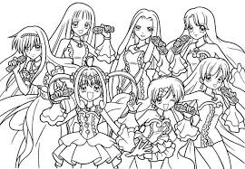Coloring Page Mermaid Melody Pichi Pitch Cartoons 35