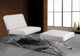 Leather Tufted Chair And Ottoman by Sofa Ottoman Chair Round Leather Ottoman White Tufted Ottoman