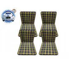 siege mehari siege bayadere ecossais bleu et jaune lot de 4 2cv renov 2cv
