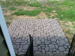 Patio Paver Ideas Pinterest by Diy Patio Made From A Country Stone Quikrete Mold And Valspar