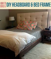 Cheap Upholstered Headboard Diy by How To Build A Headboard And Bed Frame Diy Upholstered Headboard